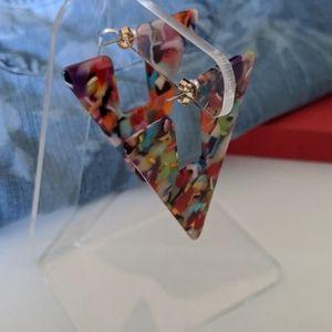 Jewelry - Geometric Multicolored Earrings